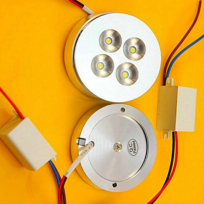 12V DC 4 * 2W Dimmable LED Sous Lumière du Cabinet Puck lumière Blanc chaud, blanc naturel, Cool blanc pour l'éclairage de cuisine