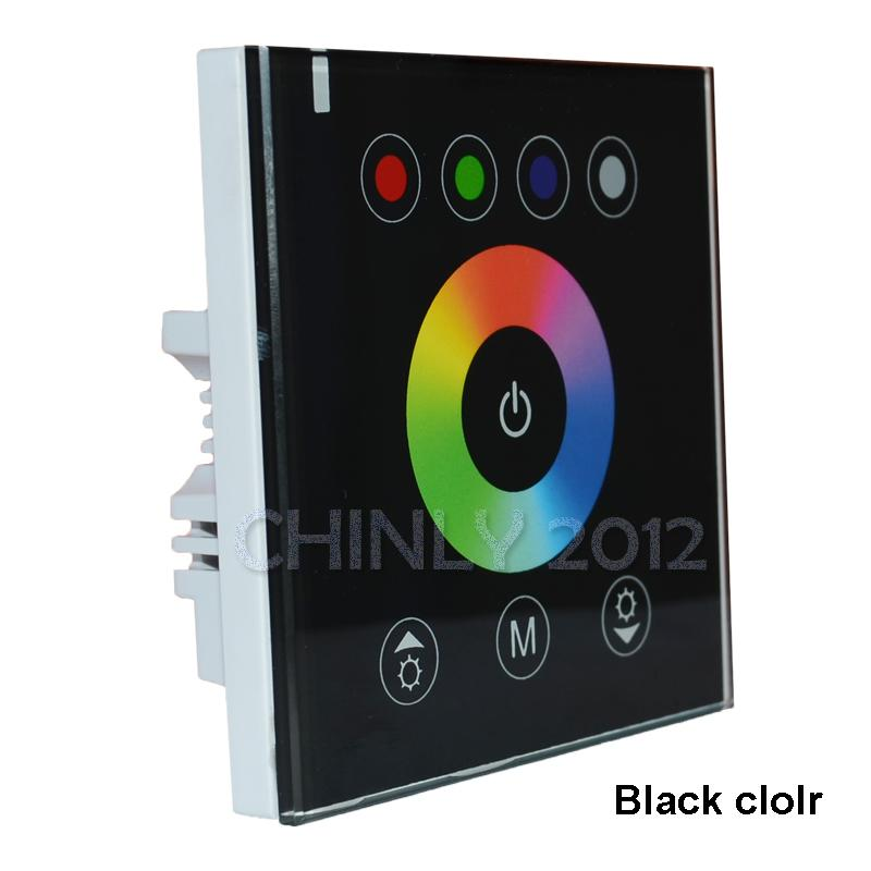 أدى المنزل DIY الإضاءة وحدة تحكم لوحة NEW RGB LED التي تعمل باللمس باهتة للأضواء قطاع DC12V LED