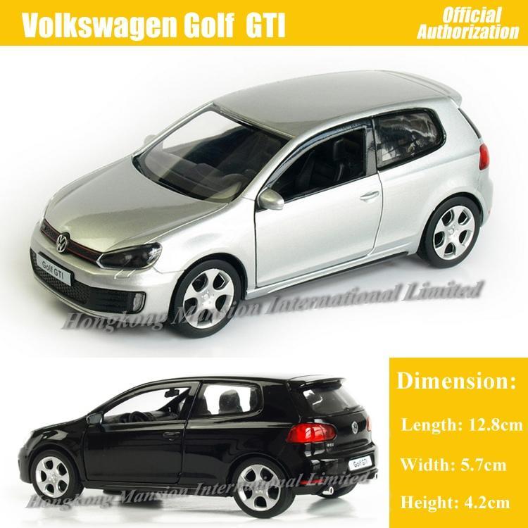 1:36 Ölçekli Alaşım Diecast Metal Araba Modeli TheVolks wagen GOLF GTI Koleksiyonu Modeli Oyuncaklar Geri Çekin Araba