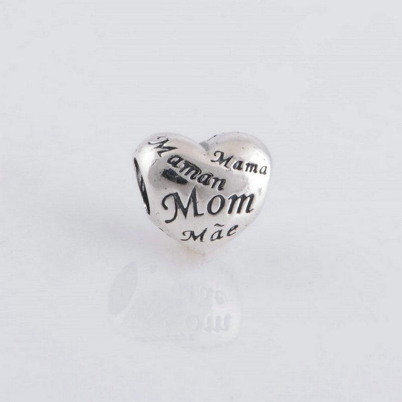 5pcs / lot madre mamma mamma del lavoro charms S925 sterling silver adatti braccialetti di stile originale 791112 H9