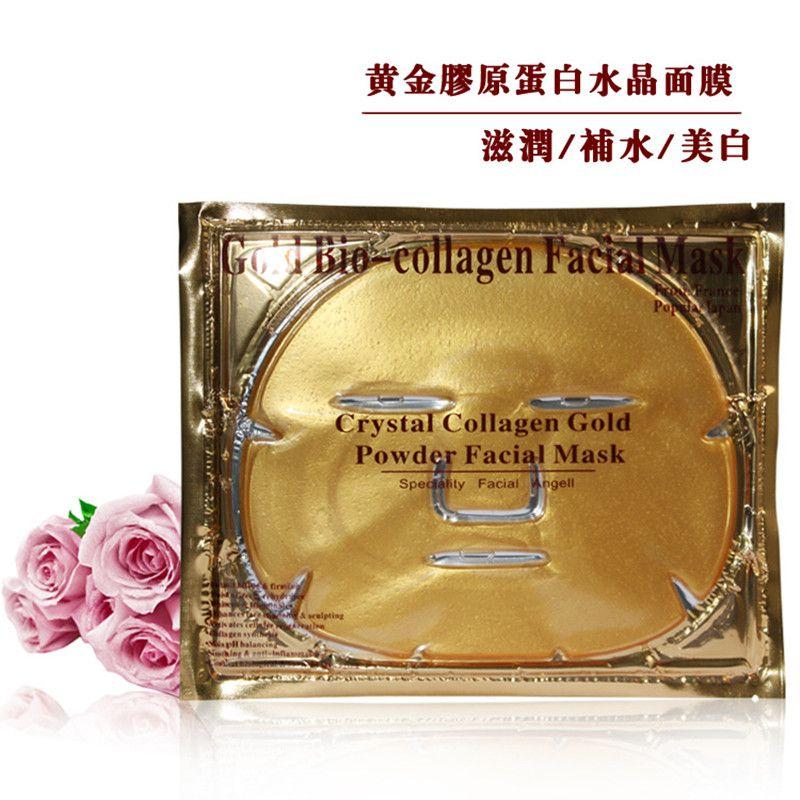 Gold Bio-Collagen Gesichtsmaske Gesichtsmaske Crystal Gold Powder Collagen Gesichtsmasken Feuchtigkeitsspendende Anti-Aging-Beauty-Produkte