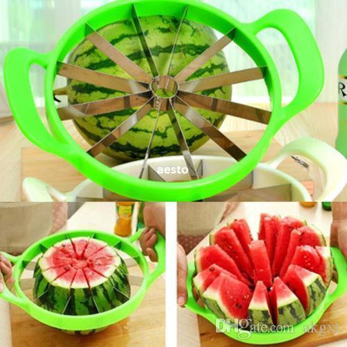 الفولاذ المقاوم للصدأ البطيخ البطيخ القاطع الشمالوب المطبخ القطاعة الفاكهة مقسم # R362