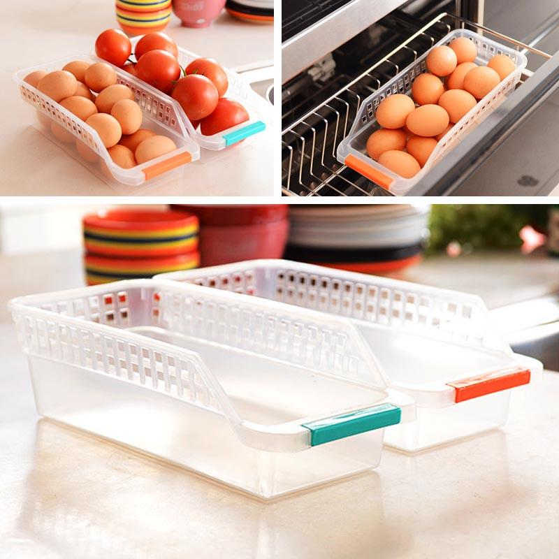 Kitchen Refrigerator Storage Basket Box Organiser Collecting Rack Holder