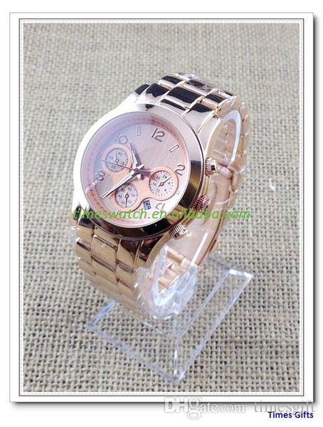 20% скидка 2019 золото новый дамы м календарь часы с высокое качество мода дизайнер кварцевые часы Часы Бесплатная доставка