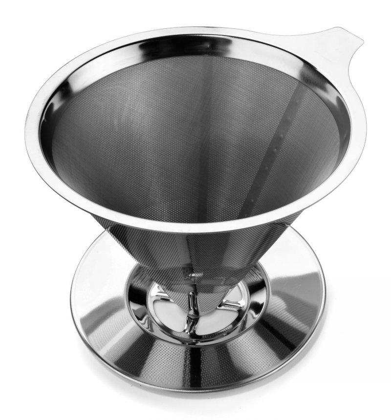 2019 Stainless Steel Pour Over Coffee Maker Coffee Dripper Reusable Permanent Pour Over Filter Cone Double Layer Fine Mesh Design From Meow 135679