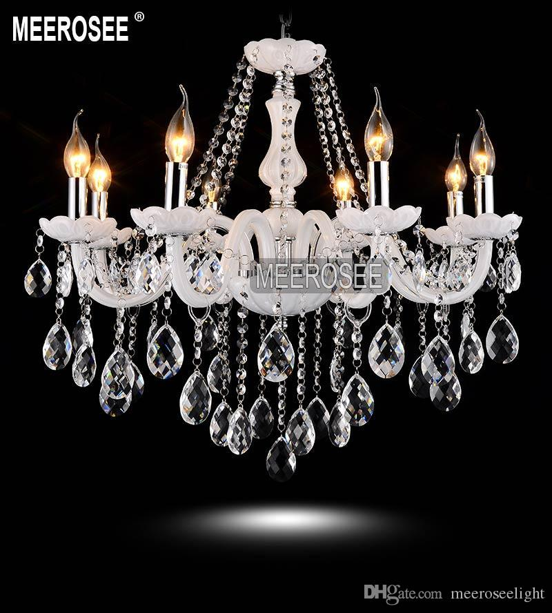Modern White Crystal Chandelier Light Elegant Cristal Lustres Premium Quality Light Fixtures Fast Shipping MD801 Fast Shipping