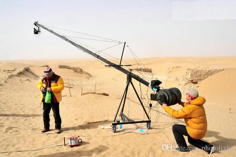 27.5 pies Pan Tilt Head 3 kilo Cámara Crane Jib Arm Jibs Kit de monitor HDMI de 7 pulgadas