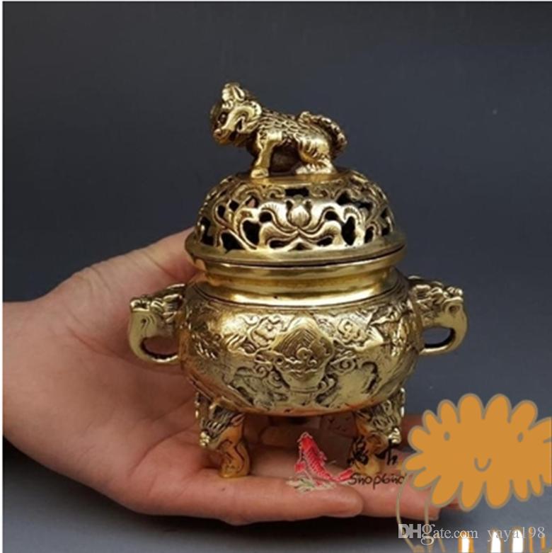 Quemador de incienso de cobre puro chino unicornio envío gratis