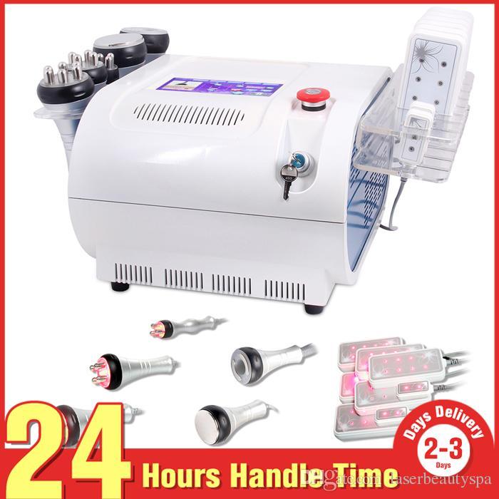 5 Em 1 635nm Diodo Lipo Laser Cavitação Ultra-sônica Multipolar RF Vacuum Contorno Do Corpo Slimiming Máquina de Beleza para Spa