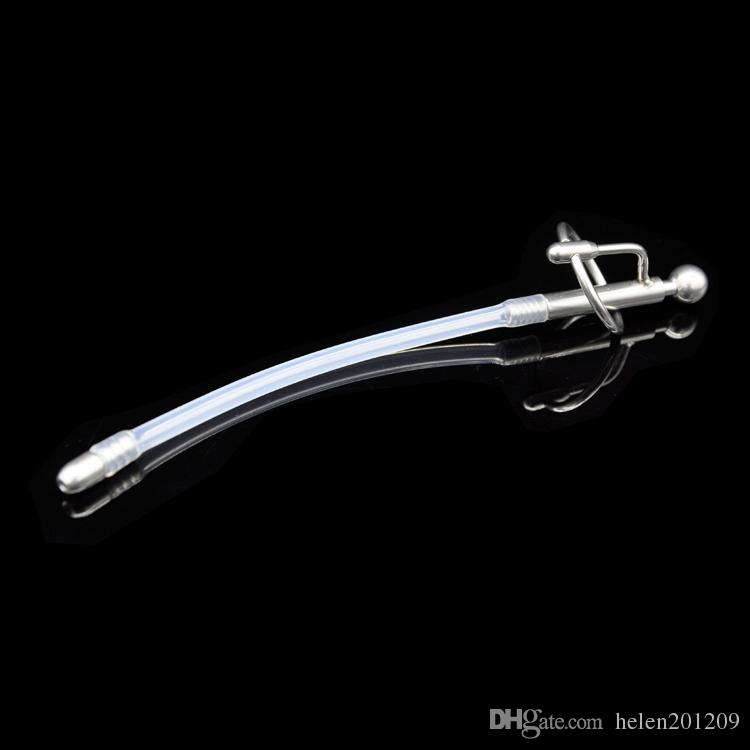 Wholesale - Latest design Stainless steel Male Urethral Silicone tube Stretching Gay fetish A076