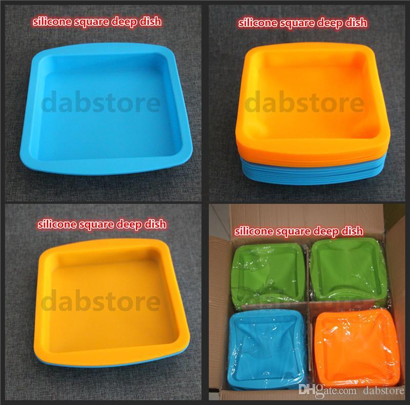 Silicone plat profond en gros meilleure qualité antiadhésif, durable, température résister plateau plateau de fruits gâteau plateau 100% de qualité alimentaire en silicone plateau