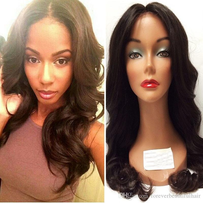 Grade 8A Wasserwelle Volle Spitze Perücken Lace Front Perücken Baby Haar 100% Brasilianische Unverarbeitete Jungfrau-Menschenhaar-Perücke für schwarze Frauen