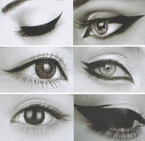Wholesale-6 in 1 Stencils Eyeliner Template Smoky Makeup Guide Cat Eye Liner Quick Tool BM260
