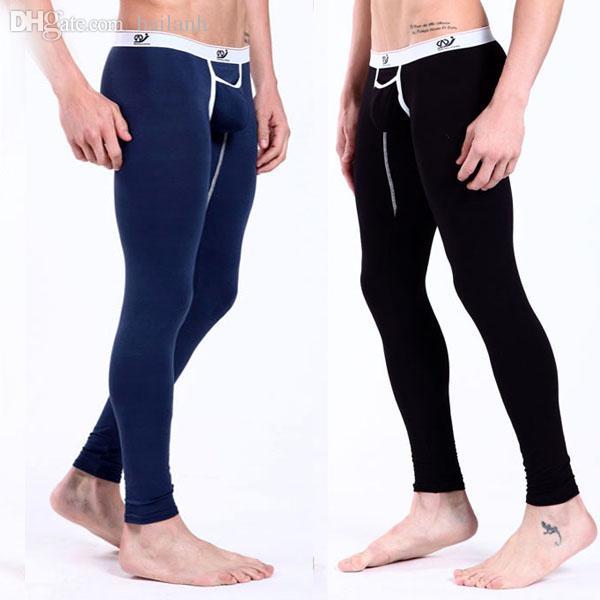Compre Al Por Mayor Hombres Pantalones De Tiro Bajo Y Calido Ropa Interior Modal Pantalones Termicos Largos Johns Partes De Abajo A 19 29 Del Bailanh Dhgate Com