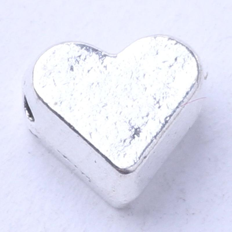 Heart Spacer beads Fit Bracelets or Necklace charms Antique Silver/bronze pandents DIY jewelry 1000pcs/lot 3037z