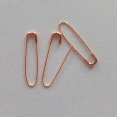 Perno di sicurezza con etichetta a forma di dado color oro moda 1000 pezzi a forma di U, stile coilless e non intoppo