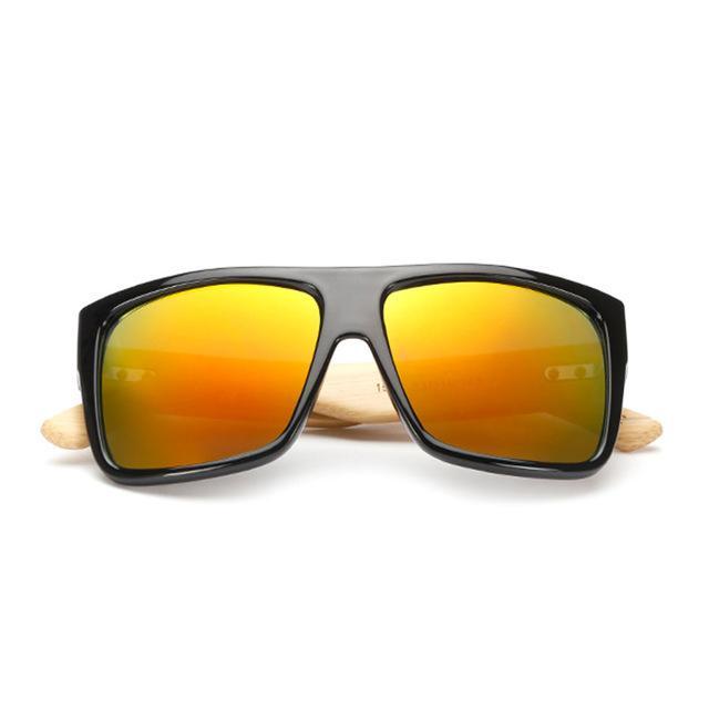 New Bamboo Sunglasses Vintage Mens Wooden Glasses Women Brand Designer Original Wood Sun Glasses Fashion Men Oculos Masculino With Case