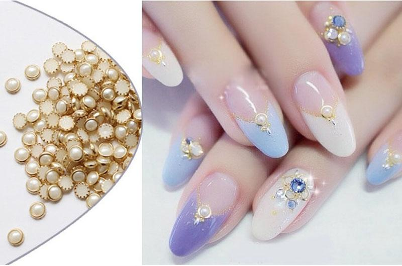 F327 Pearl Wheel 3D Nail Art Tips Japanese Pro Flat Pearl Acrylic Glitter  Gems Manicure Decals DIY Nail Beauty Decoration Hot Rhinestone Decorations
