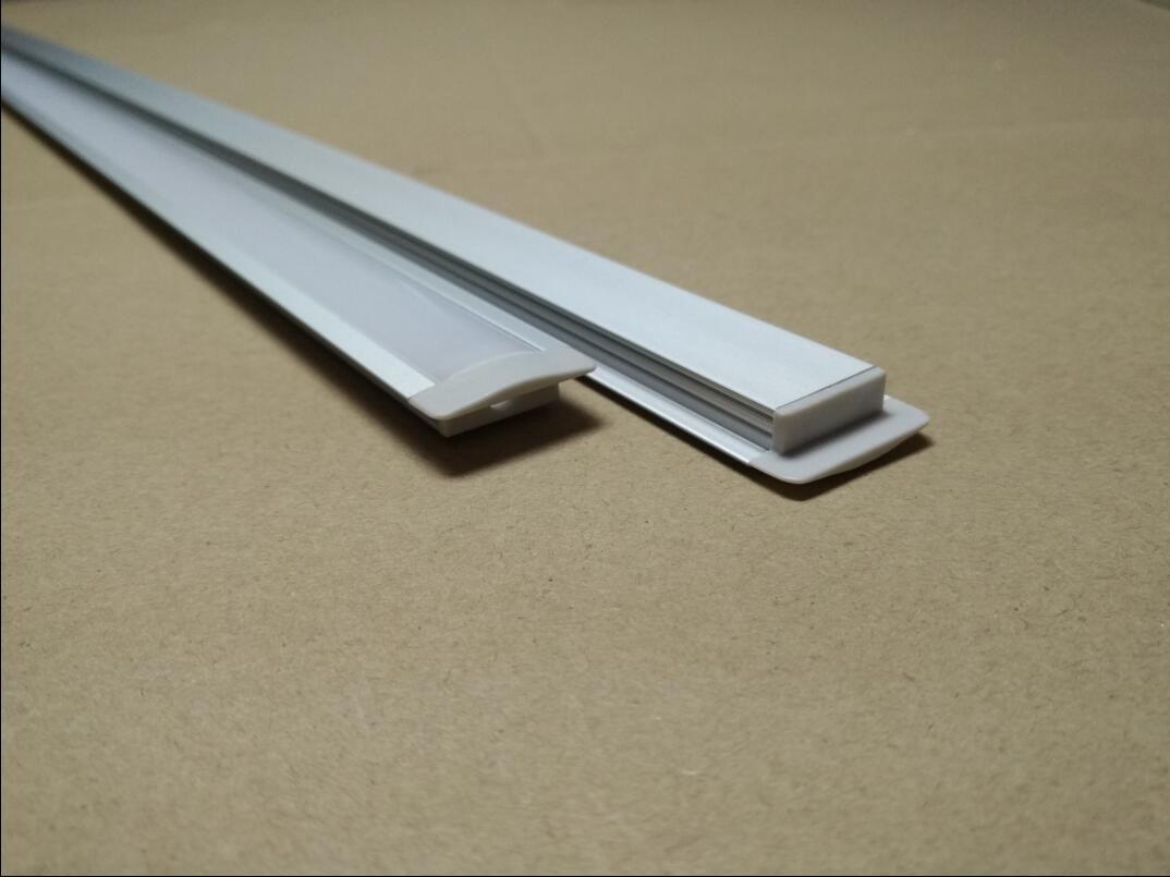 Di trasporto di vendita calda ha condotto il profilo in alluminio estruso per il 2835/5050/5630 striscia flessibile 1m / pcs 20pcs / lot
