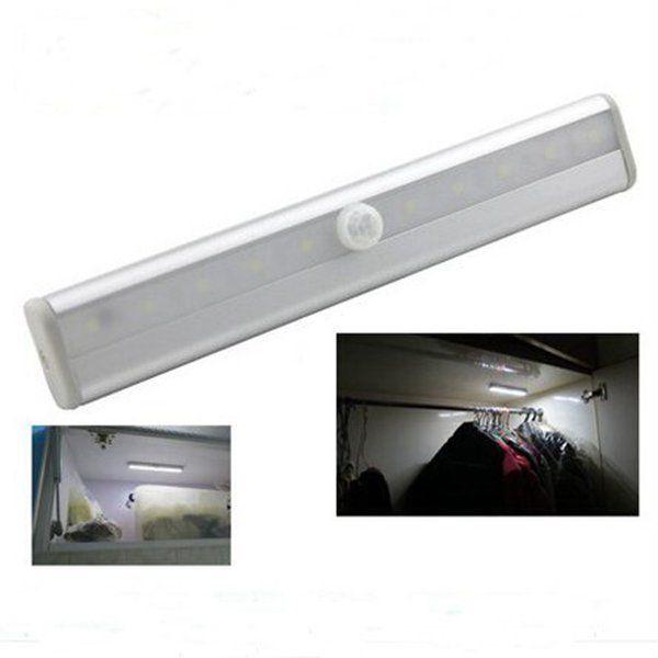 Edison2011 10 المصابيح أضواء الليل اللاسلكية pir السيارات استشعار الحركة الخفيفة ذكي محمول الأشعة مصباح التعريفي ل خزانة فندق خزانة