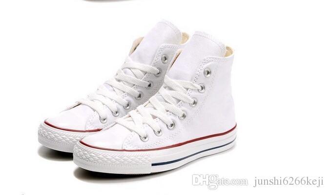 드롭 배송 브랜드 새로운 15 색 모든 크기 35-46 높은 탑 스포츠 별 낮은 탑 클래식 캔버스 신발 운동화 남성 여성 캐주얼 신발