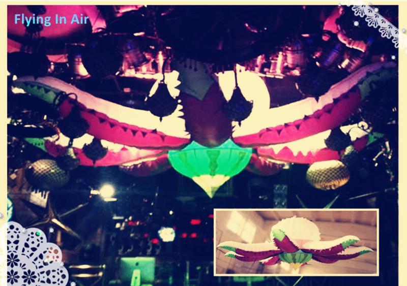 6 m opknoping / zee schepsel opblaasbare octopus bloem voor plafond opblaasbare decoratie