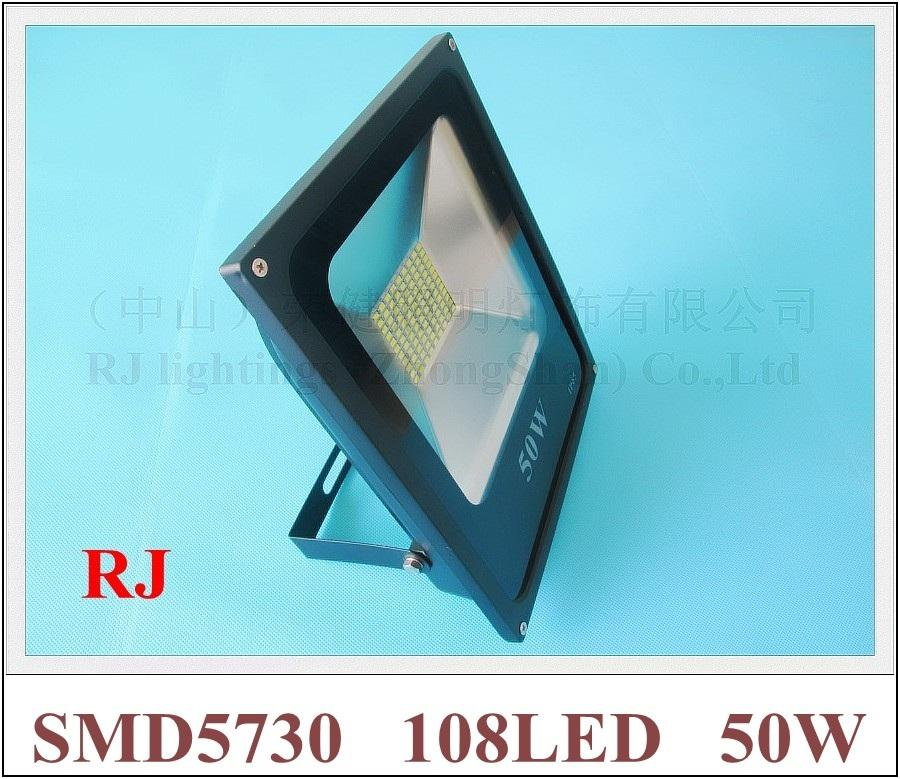 Nowy Design SMD 5730 LED Light Light Floodlight 50W SMD5730 108led (108 * 0.5w) AC85V-265V Wodoodporna IP65 CE 2 Rok Gwarancja Darmowa Wysyłka