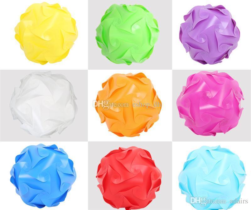 40 cm 110-240 V Nowoczesne współczesne elementy DIY IQ Lampa puzzli Shade Sufit Wisiorek Lampy Lampy Ball Light Lighting