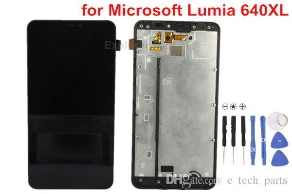 1PCS OEM لمايكروسوفت نوكيا Lumia N640XL 640XL VS 640 N640 شاشة LCD + شاشة تعمل باللمس محول الأرقام الجمعية مع الإطار زجاج عدسة اختبار مرت