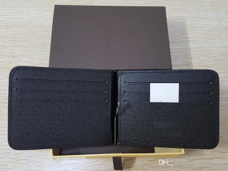 Европейский и американский стиль моды мужчины деньги клип известный дизайнер высокого качества кошелек с держателем карты женщины короткий кошелек