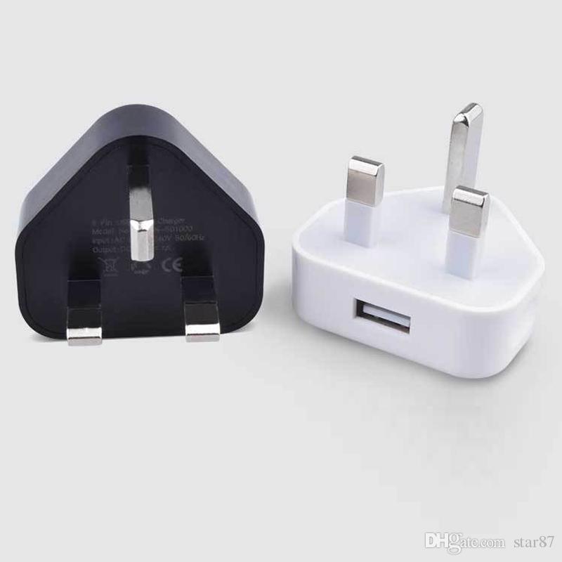 Caricabatterie universali a carica diretta Caricabatterie triangolari a casa per caricabatterie per telefoni UK AC Power Adapter per tutte le versioni