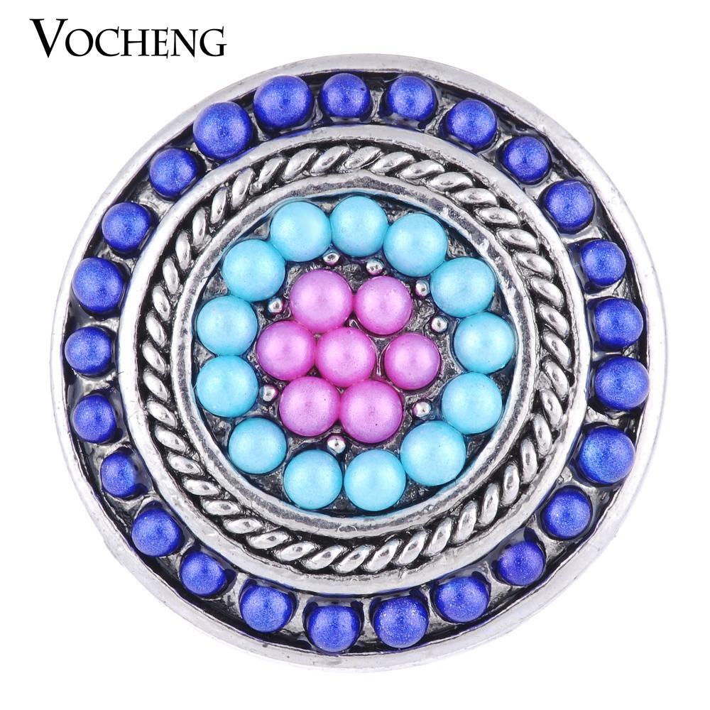VOCHENG NOOSA 18mm Bouton pression personnalisé rempli de cadeau de perles rondes pour les filles Vn-1127