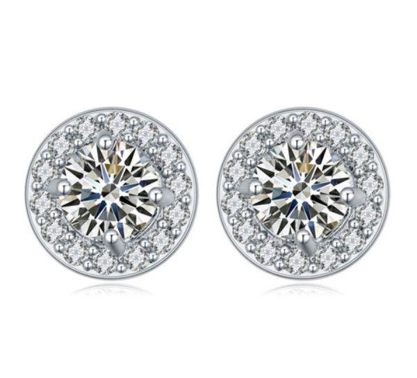 Boucles d'oreilles goujons de mode femmes élégant luxe qualité zircon platine plaqué goujon boucles d'oreilles bijoux gros Drop Shipping TER056