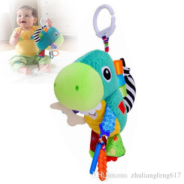 Plush Animal Musical multiuse Stroller Car lathe bed crib Hanging Bell Newborn Baby Educational Rattles Mobile Toys 0 12 months