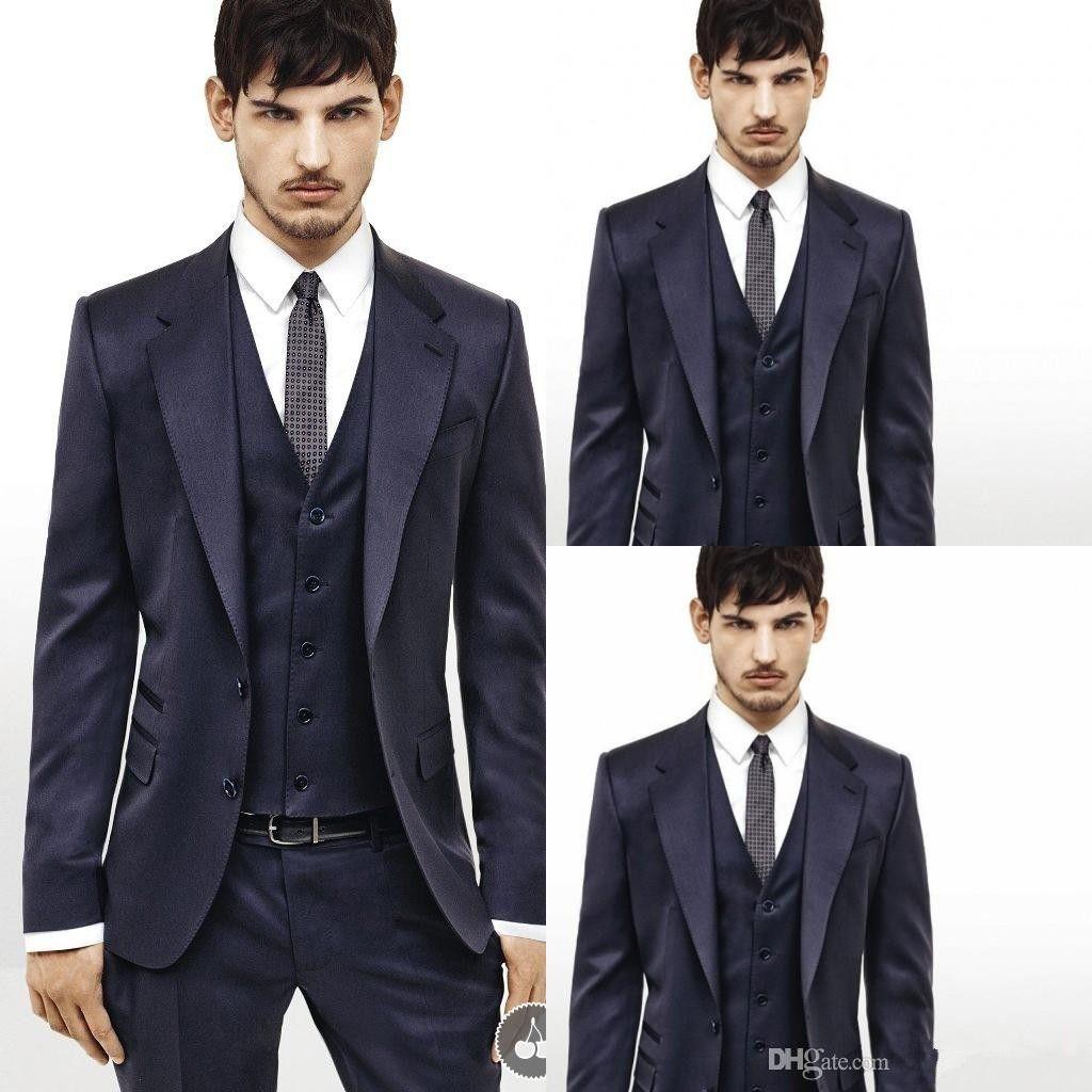 Top (Giacca + Pantaloni + Fiocco) Immagine reale Tuxedos abiti da uomo Abito da sposa Slim Fit Business Groom Suit Set Abiti eleganti Tuxedo per uomo