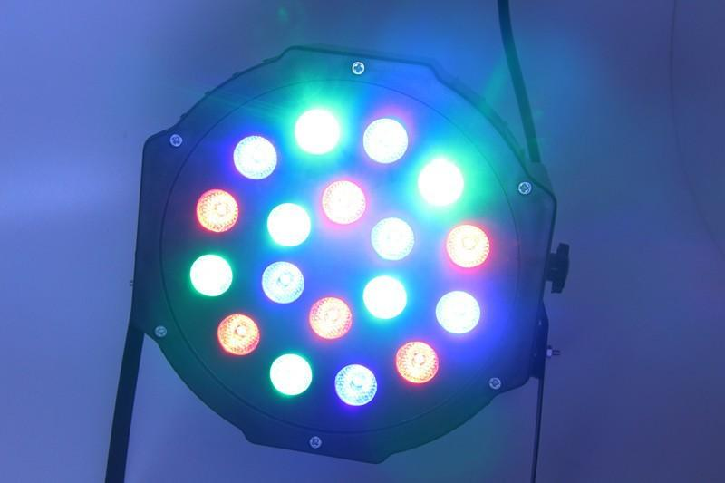 Free shipping 183W Led Stage Light High Power RGB Professional Par Wedd Stage&DJ Lighting DMX512 Master-Slave Led Flat (4)