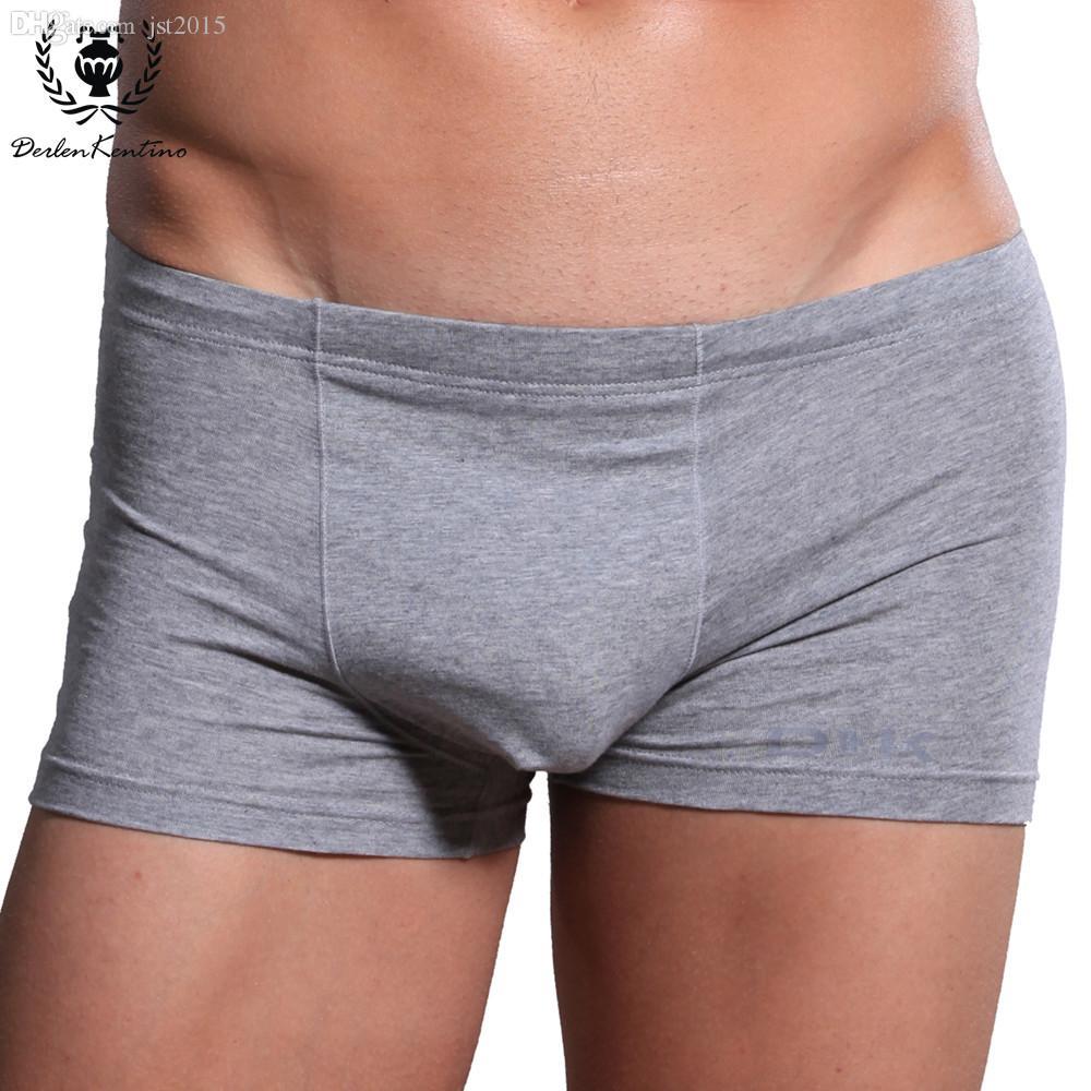 Vente en gros-95% Coton Hommes Boxer Cueca Sous-vêtements Derlen Kentino Marque U-type 3D Conception Stéréoscopique De Mode Sexy Hommes Sous-vêtements Boxers 8762