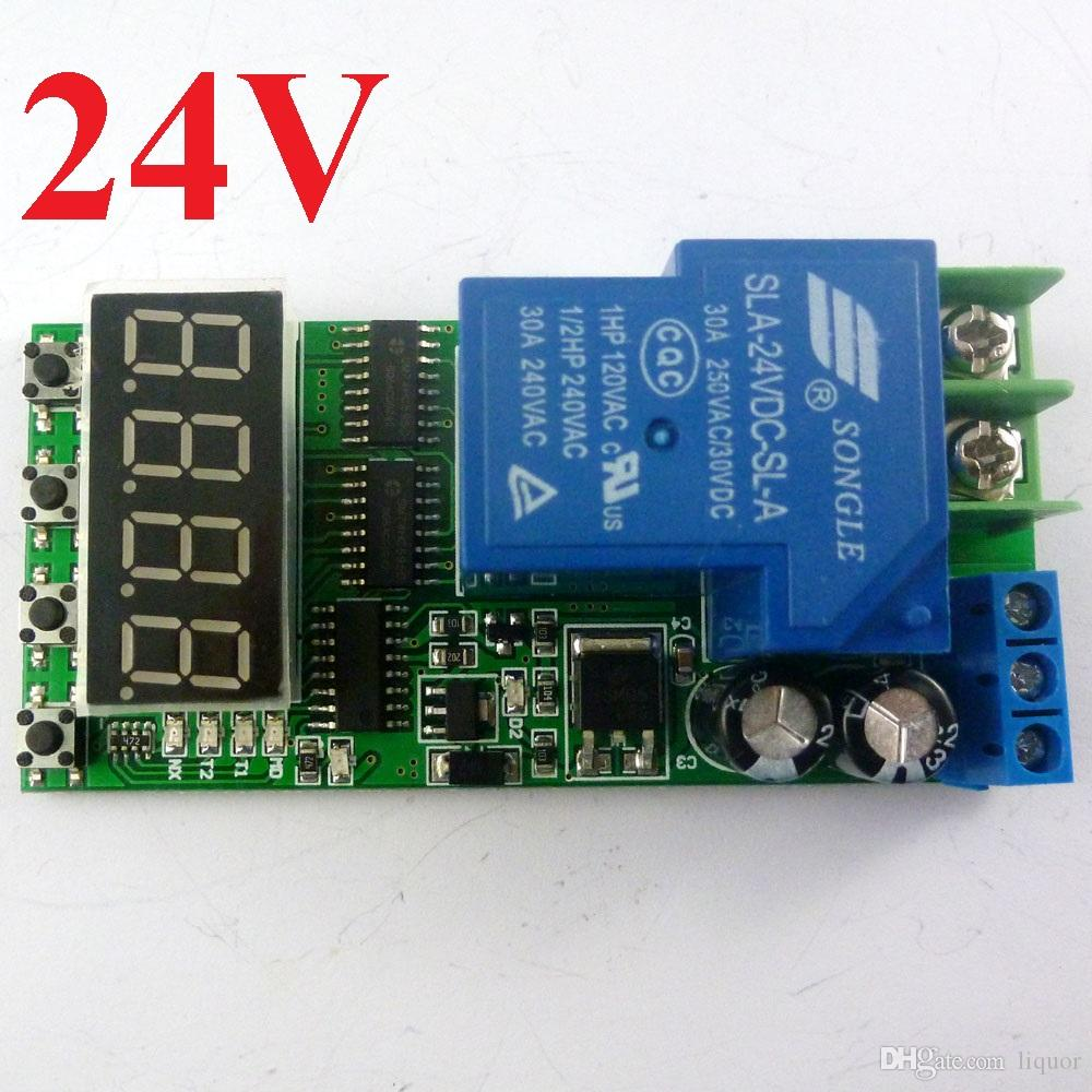 DC 24V 30A Multifunction Timer Delay Relay Module High Power On/Off Adjustable for PLC Motor LED Pump