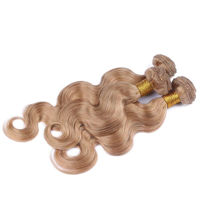 "8A Grade Honey Blonde Hair Weaves 300G/Lot 10""-30"" 27 Blonde Body Wave Human Hair Bundles Blonde Indian Hair Extensions"