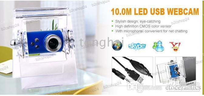 10.0M Pixel USB Webcam Web Cam Câmera PC Notebook + Mic