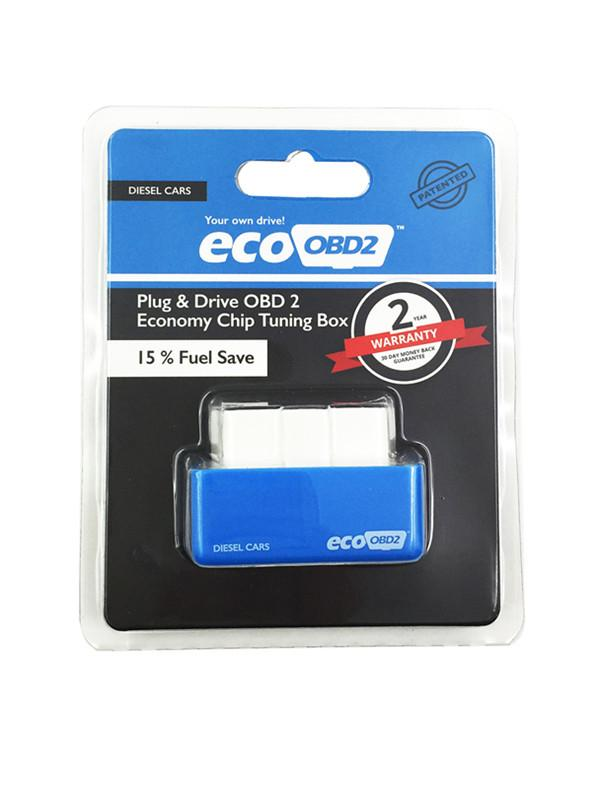 Blue EcoOBD2 Diesel Car Chip Tuning Box Eco OBD2 Plug and Drive Lower Fuel and Lower Emission NitroOBD2