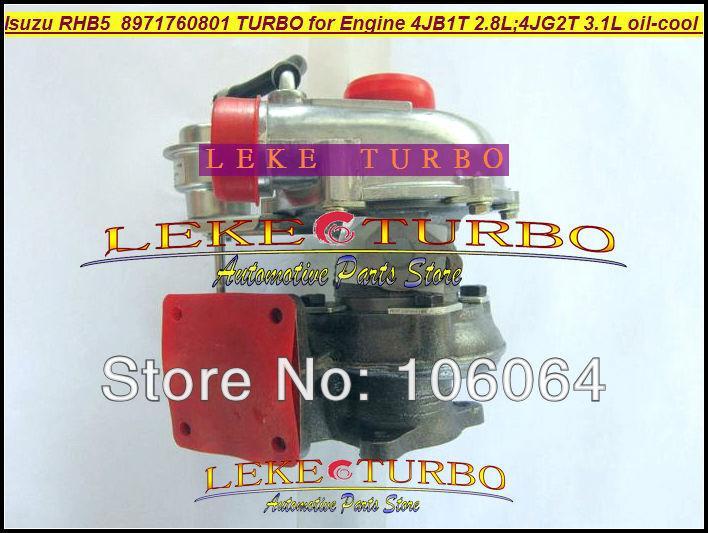 Wholesale New RHB5 VA190013 VICB 8971760801 turbo for ISUZU Engine 4JB1T 2.8L 4JG2T 3.1L oil cooled turbocharger (1)