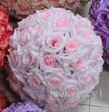 Kleine rosa künstliche Rosen-Silk Blumen Kissing Bälle Ornamente Geburtstag Hochzeit Dekorationen Zubehör 25cm Durchmesser