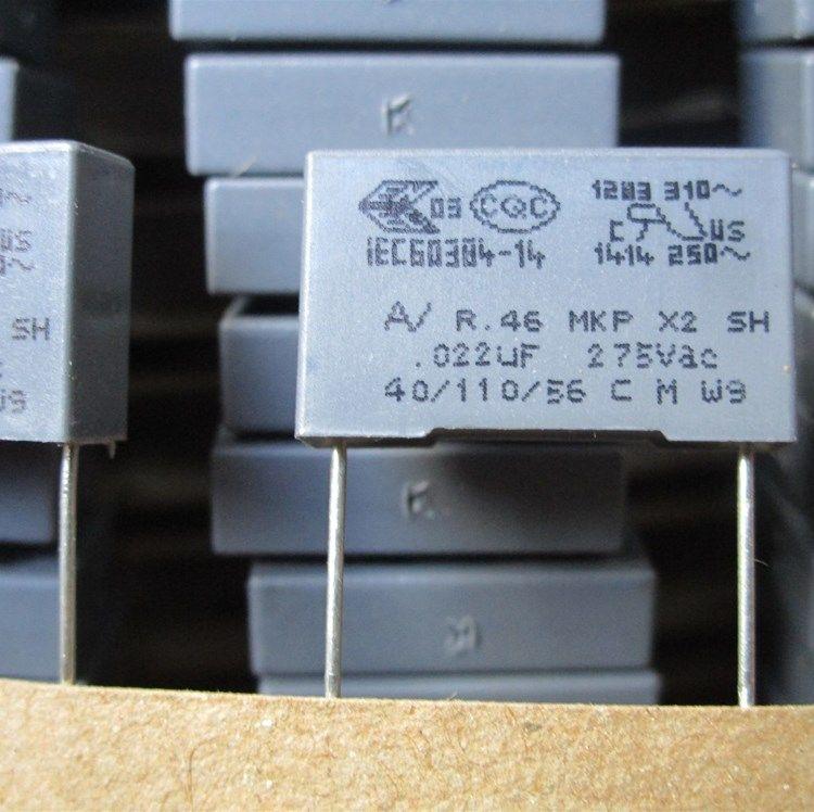 Condensatori di correzione della sicurezza in Italia AV R46 0.022uf 275VAC 22nf 223 piedi di distanza dal 15MM