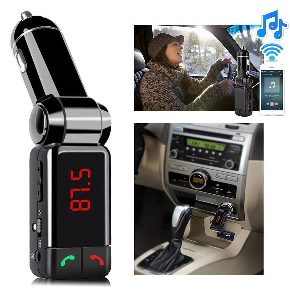 Novo lcd bluetooth car kit mp3 fm transmissor usb sd carregador para iphone samsung