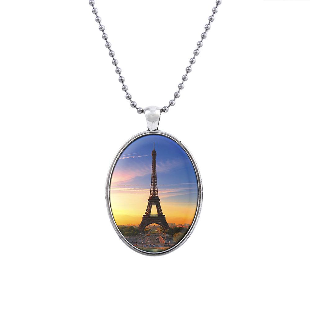 CP1601063 мода ювелирные изделия высокое качество стекла ожерелье наборы для женщин ювелирные изделия уникальный Эйфелева башня дизайн партии подарок