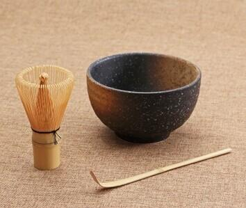 Gros-cérémonie 3pcs ensembles bol matcha bambou cuillère fouet à Matcha teaware