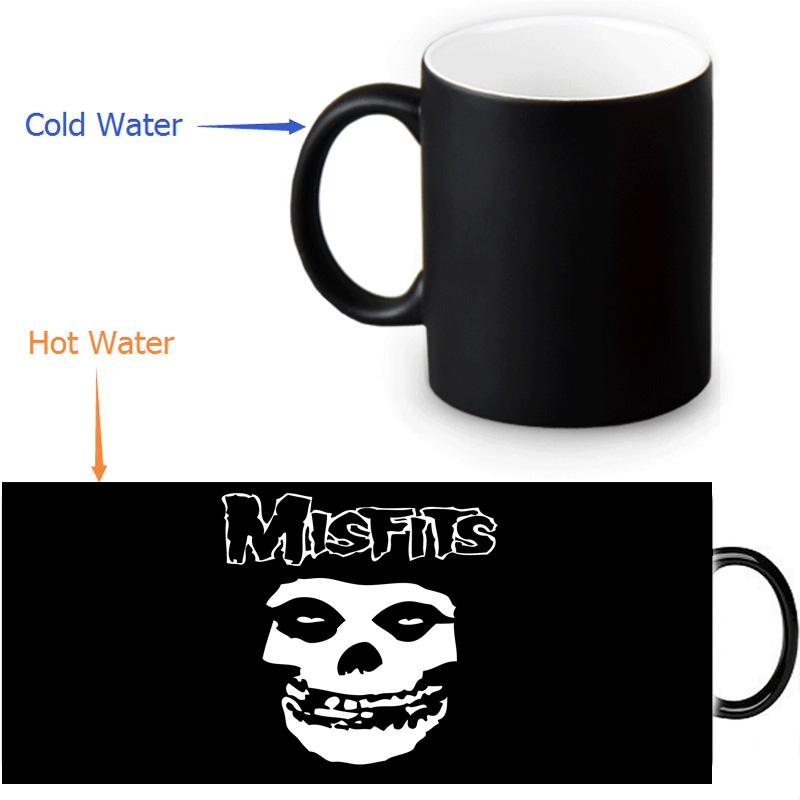 Toptan-Misfits Isı Ortaya Mug renk değişimi kahve Mug 12 OZ / 350ml duyarlı geçişin kupalar
