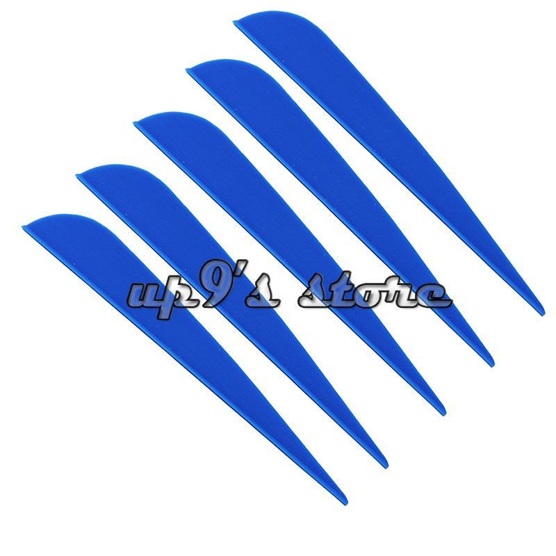 100 pieces 4 inch Plastic blue Arrow Vane Fletching for DIY arrow archery bow