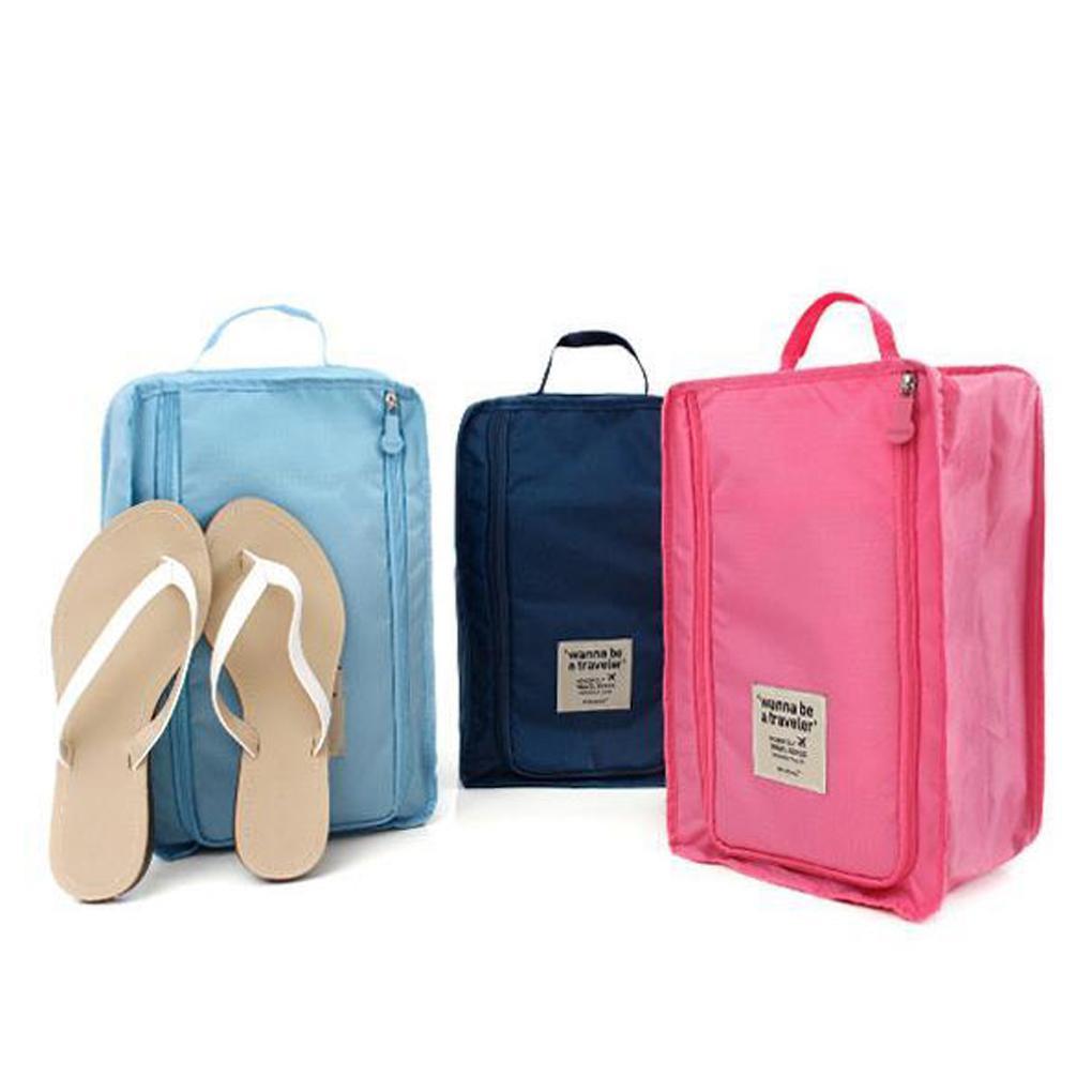 Wholesale- Travel Storage Bag Nylon 6 Colors Portable Organizer Bags Shoe Sorting Pouch